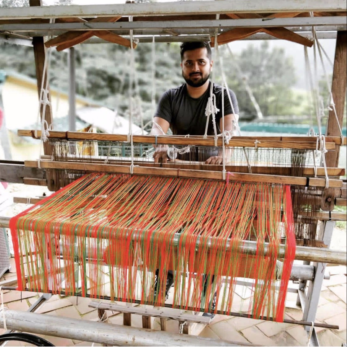 Himachali Shawl Weaving at Rakkh Resort Palampur